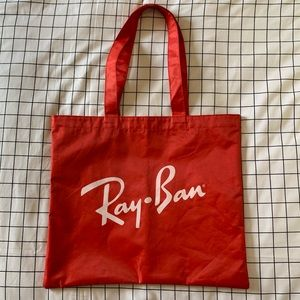 Ray bans red nylon tote